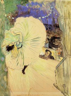 """yama-bato: """" Henri de Toulouse Lautrec, Loïe Fuller Seen from the Stage Wings - The Wheel, 1893 """" Henri De Toulouse Lautrec, Paul Gauguin, Claude Monet, Art Français, Kunst Poster, Camille Pissarro, Art Graphique, French Art, Art Google"""