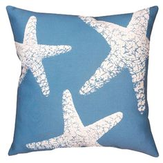Found it at Wayfair - Nautical Reversible Starfish Pillow