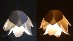 DIY flower lamp - learn how to make a paper flower lampshade for a penda...