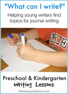 How to help kids find topics for journal writing (with free printable picture chart!)