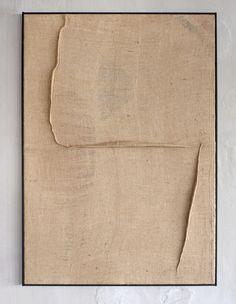 Tsuyoshi Maekawa - 2016 Sewn burlap H cm x W 94 cm x D cm ref Contemporary Abstract Art, Modern Art, Minimal Art, Installation Art, Textile Art, Diy Art, Collage Art, Home Art, Sculpture Art