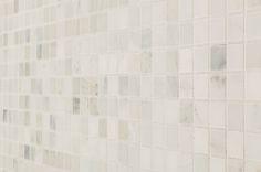 "Marble Mosaic - Carrara Marble Series - Arabescato Carrara / 1""x1"" / Honed"