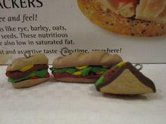 Sandwiches - Kuku Bat #polymerclay #handmade #diy #kawaii #charms #sprinkles #cute #adorable #food