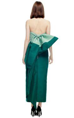 Silk-Faille Bow-Back Dress by Rosie Assoulin - Moda Operandi