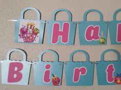 Shopkins BIRTHDAY Banner, Shopkin, Shopkins Banner, Shopkins Party, Shopkins Decor, Shopkins Sign, Shopkins Supplies, Party Supplies