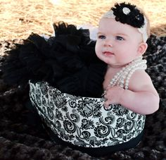 Champagne tiara lace with black chiffon flowers and by SimplyKylee