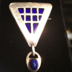 Gallery 925 - Georg Jensen Arts and Crafts Design Pin , Handmade Sterling Silver