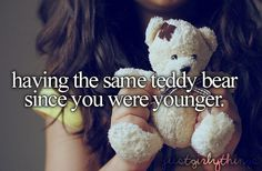 For me it's not a teddy but but a stuffed animal lamb...