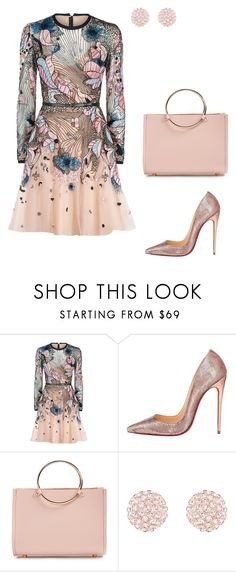 """Shoes and bag_pink gold"" by yulia-meshcheryakova on Polyvore featuring Elie Saab, Christian Louboutin and Future Glory Co."