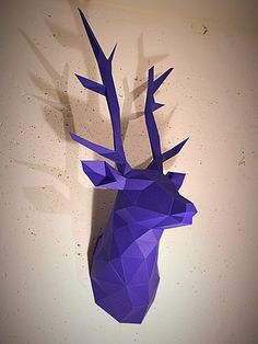 Papercraft deer head printable DIY template 13 by WastePaperHead