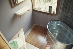 A Great Leap in the Dark - tiny house bathroom