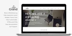 Grand - Creative Responsive Multipurpose Theme by energeticthemes Grand is a powerful, Creative Multi-Purpose Responsive WordPress theme. The design of theme is simple clean and modern. Grand Them
