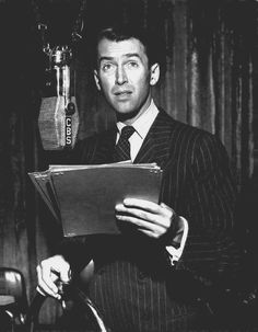 """Jimmy Stewart reprises his role in """"It's a Wonderful Life"""" on the Lux Radio Theatre. March 10, 1947."""