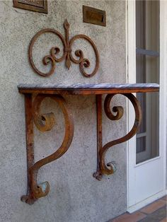 Decorative Wrought Iron Shelve Brackets, Arbors & Pergola's | Shoreline Ornamental Iron