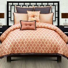 Peach and spice bedset