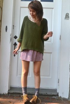Sweaters over dresses <3