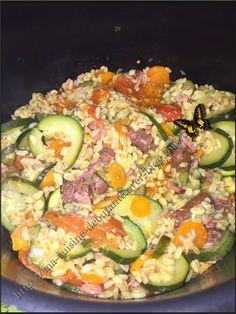 Zucchini, Bacon, Batch Cooking, Vegetable Salad, Avocado Egg, Paella, Cobb Salad, Vegetables, Breakfast