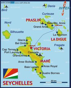 Seychelles Islands map