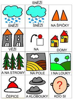 Pro Šíšu: Básničky i pro autíky Montessori, Playing Cards, Language, Advent, Social Stories, Kids Learning Activities, Autism, Playing Card Games, Languages