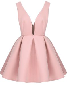 Shop Pink V Neck Backless Midriff Flare Dress online. Sheinside offers Pink V Neck Backless Midriff Flare Dress & more to fit your fashionable needs. Free Shipping Worldwide!