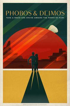 SpaceX lança cartazes retrô de 'pontos turísticos de Marte' - TecMundo
