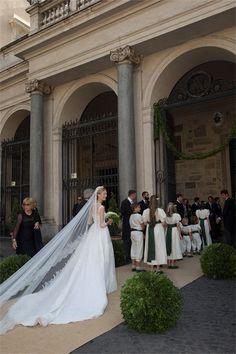 Le prince Amedeo de Belgique et Elisabetta Maria Rosboch von Wolkenstein se sont marié à Rome le 5 juillet 2014