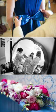 True Blue. April Wedding, Blue Color Schemes, Wedding Planning, Reception, Marriage, Table Decorations, Bride, Rock, Pretty