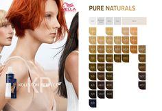 Wella Professionals Koleston Perfect ME+ Pure Naturals. Wella Koleston Perfect, Color Charts, Pure Products, Nature, Hair, Color Boards, Colors, Naturaleza, Colour Chart