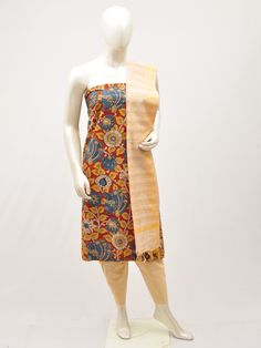 Buy latest Kalamkari dress material from top hand loom weavers of kalamkari at wholesale price in online DressesForWomen.in