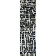 "Karastan Grasscloth Runner - Black (2'4""X8'3"")"