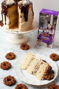 Samoas Mascarpone Filled Layer Cake 05