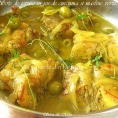 » Mancare de mazare cu chiftele de postCulorile din Farfurie Thai Red Curry, Knits, Meat, Chicken, Ethnic Recipes, Food, Essen, Knit Stitches, Meals