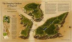 """The Hanging Gardens of Magrael by Sue Daniel """"Mouse"""" via Cartographers' Guild"""
