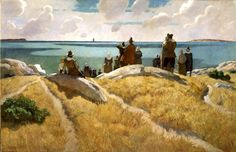 N.C.Wyeth, the master of Thanksgiving #anthropologie #PinToWin