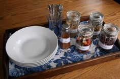 Fun idea for guest. .  create an oatmeal topping station. Could do similar things for pancakes/waffles/muffins, etc.