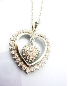 Double Hearts Pattern Necklace on BuyTrends.com, only price $6.75