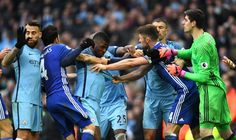 Manchester City and Chelsea have been fined by the FA for failing to control their players during a Premier League match at the Etihad earlier this monthwhich Chelsea won Best Football Team, Premier League Matches, Manchester City, Blue Moon, Chelsea, Sports, Men, Image, Tops