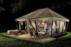 Experts in innovative projects in glamping tourism. Our projects Garden Village Bled, Herbal glamping Ljubno, Adria glamping tent were developed from the idea to reality. Camping Con Glamour, Glam Camping, Camping Glamping, Camping Hacks, Camping Essentials, Diy Camping, Camping Stuff, Camping Gear, Tent Living