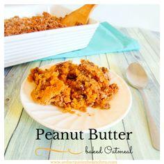 Peanut Butter Baked Oatmeal