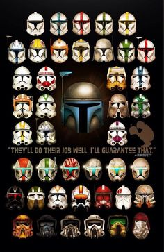 "Clones: ""They'll do their job well. I guarantee that."" - Jango Fett..."