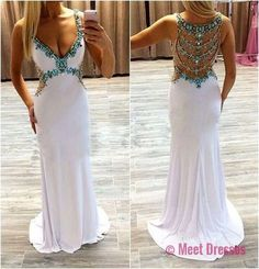 Sexy Prom Dresses,Evening Dresses,New Fashion Prom Gowns,Elegant Prom Dress,Princess Prom Dresses,Evening Gowns,White Formal Dress,White Evening Gown PD20183217