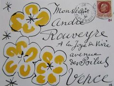 """A post card by Henri Matisse """