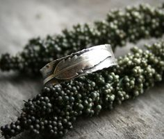 Sterling Silver Feather Ring - Handcrafted Ring, Nature Ring, Rustic Jewellery, Southwestern Ring, Sterling Feather Ring - Little Feather by AndewynDesigns on Etsy https://www.etsy.com/listing/186421127/sterling-silver-feather-ring-handcrafted