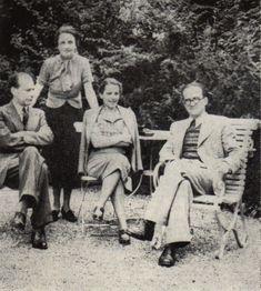 Lucian Blaga & Mircea Eliade (wives: Cornelia Good and Nina Eliade). Romania People, History Facts, Authors, Writers, Religion, The Originals, Couple Photos, Picasso, Switzerland