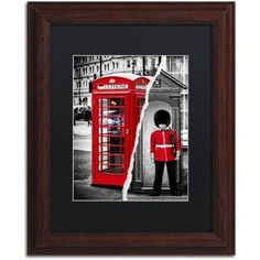 Trademark Fine Art Red Canvas Art by Philippe Hugonnard Black Mat, Wood Frame, Size: 11 x 14