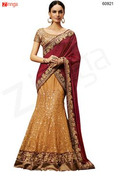Women's Pretty Fish cut Lehenga Style in Brown Color Message/call/WhatsApp at +91-9246261661