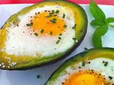 Baked Avocado Eggs...healthy, easy & delicious!