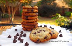 Gourmet Girl Cooks: Crispy Style Chocolate Chip Cookies - Low Carb, Grain & Gluten Free