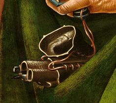 """Detail from PIERO DI COSIMO (artist), """"The Visitation with Saint Nicholas and Saint Anthony Abbot"""", c. 1489/1490, in the National Gallery of Art, Washington, DC, The Samuel H. Kress Collection, 1939.1.361 - Captured by Andrea Carloni, Rimini. Source: http://www.nga.gov/content/ngaweb/Collection/art-object-page.505.html"""