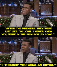 And when he admitted to Jimmy Fallon the next day that some of his mates thought he was only an extra.